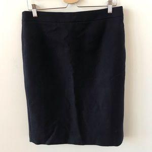 J Crew No 2 Pencil navy skirt